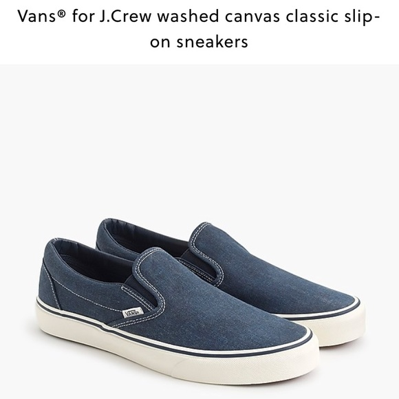 7e24054038f Vans® for J.Crew canvas classic slip-on sneakers